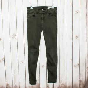 Rag & Bone JEAN Women's Skinny Jeans Olive Green